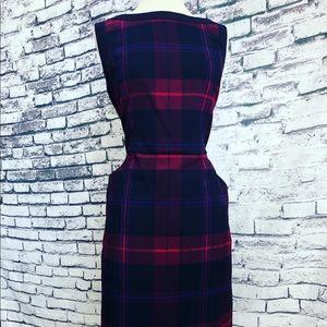 Tommy Hilfiger Blue Magenta Plaid Pocket Dress